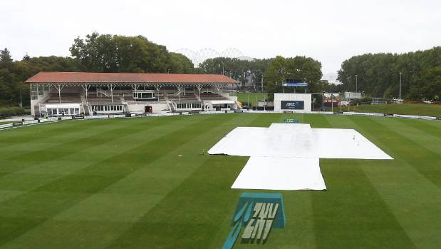 Match officials abandoned the first test as a draw at 1.30pm on day five after persistent rain at University Oval.