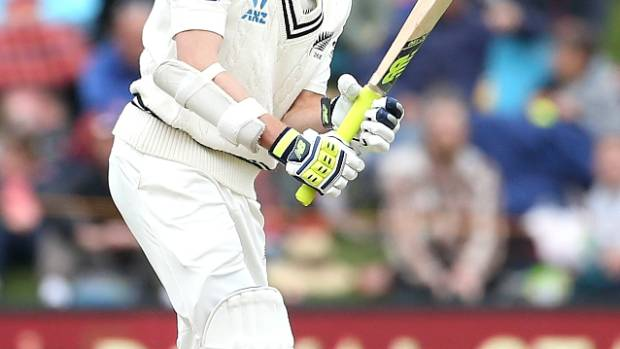Mitchell Santner scored four off 42 balls in Dunedin and took one wicket.