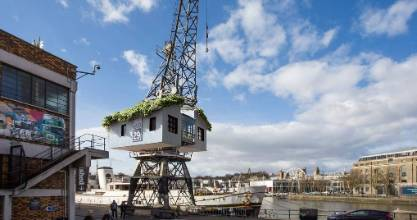 Canopy & Stars will give eager glampers the opportunity to spend a night in crane overlooking Bristol Harbour.
