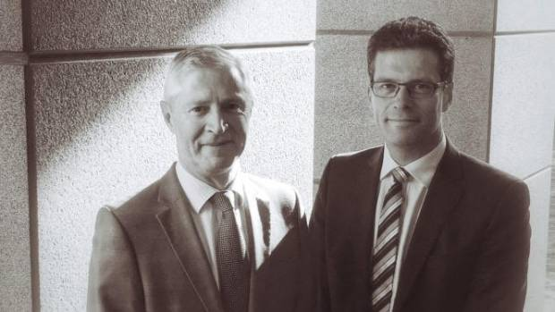 Mark Jennings, left, and Tim Murphy of Newsroom.co.nz.