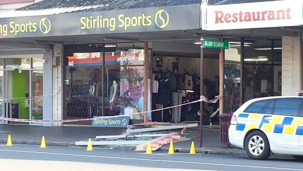 Stirling Sports in Te Awamutu was ram-raided for the second time in two months, on February 28.