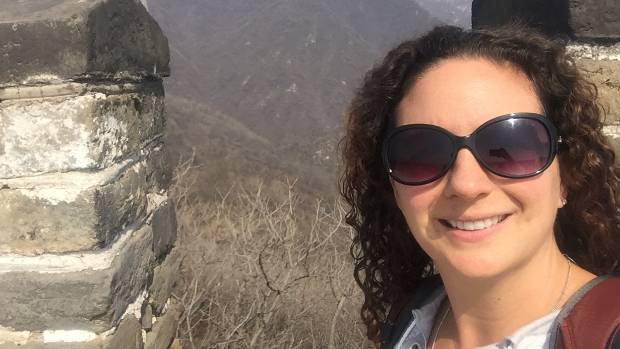 Travel is still hugely important to Nicole (pictured here at the Great Wall of China).