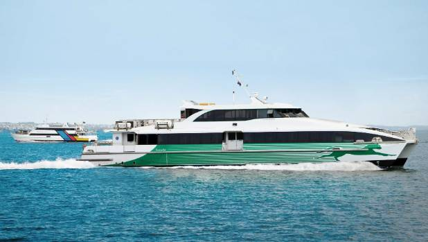 Fullers' fully computerised Capricornian Surfer ferry is on loan from Australia..