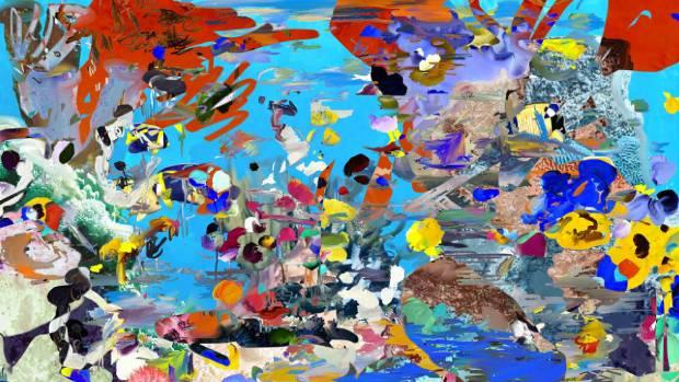 Tropic Fish-invert-painting, 2017.