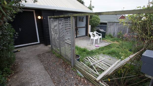 The home of Jo Alderdice, who with other neighbours tried to stop the attempted abduction. Her fence was knocked down in ...