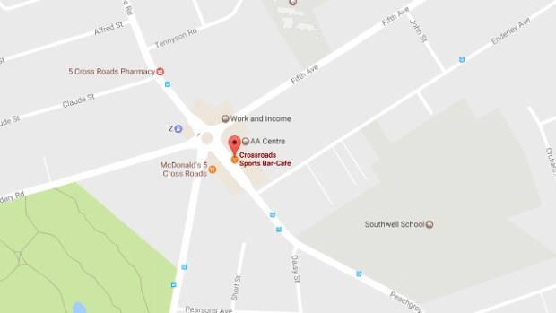 The sports bar is along Peachgrove Road, Hamilton.