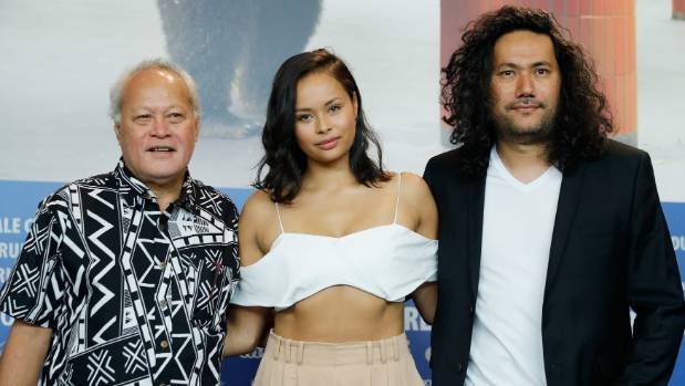Uelese Petaia, Frankie Adams and  Tusi Tamasese at the film's world premiere at the Berlin Film Festival last month.