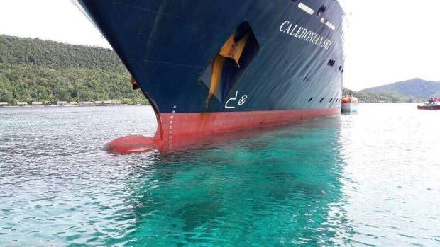 Caledonian Sky cruise ship wrecks one of Indonesia's best coral reefs