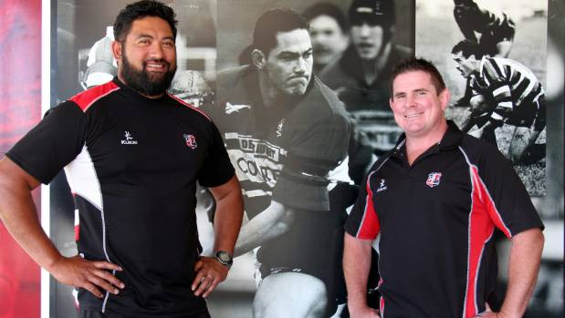 Counties Manukau Rugby development officers Jeremy Wara and Grant Hesson want to recruit more men and woman to high ...