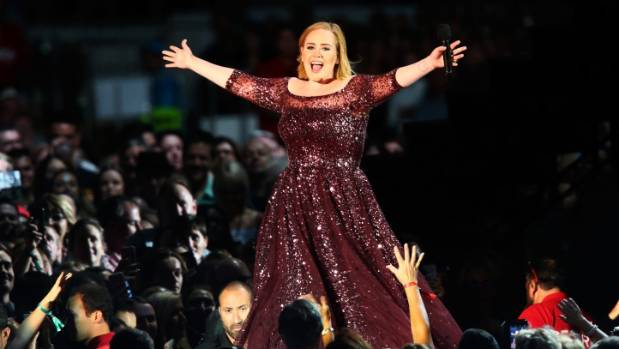 Adele performs at Adelaide Oval on March 13.