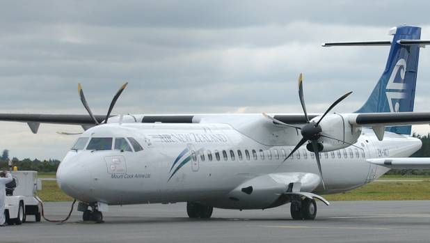 The flight was due to be on an Air New Zealand ATR72 from Napier. (FILE PHOTO)