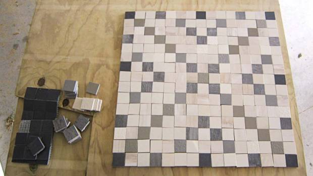 Step 1: These instructions are for 45mm tiles, but you can scale it to whatever size you use. If required, peel the ...