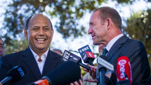 Willie Jackson and Labour leader Andrew Little on the day Jackson announced he would stand for Labour.