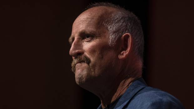 Gareth Morgan announces The Opportunities Party's final election year policy in Christchurch on Tuesday night.