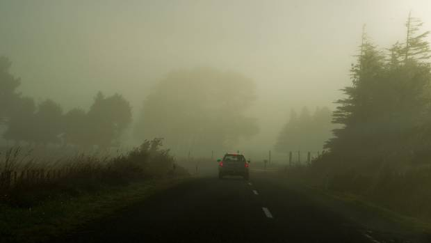 A car and ute crashed on a foggy Otago road. (FILE SHOT)