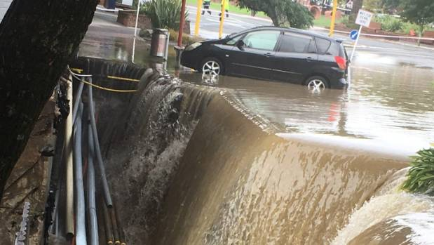 The image of a sunken footpath in New Lynn shocked many Aucklanders.