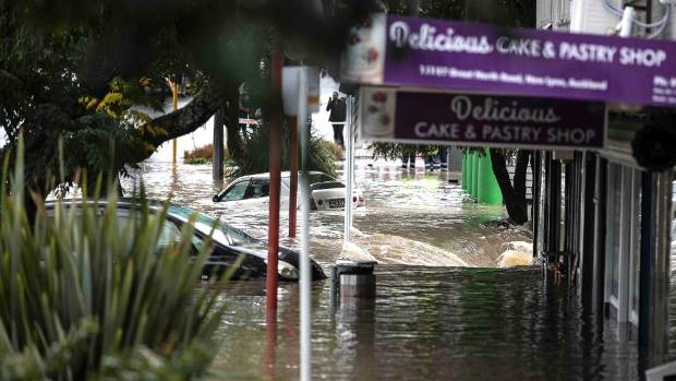 Major flooding hit Auckland after a huge downpour on March 12.