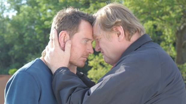 Michael Fassbender and Brendan Gleeson play son and father in Trespass Against Us.