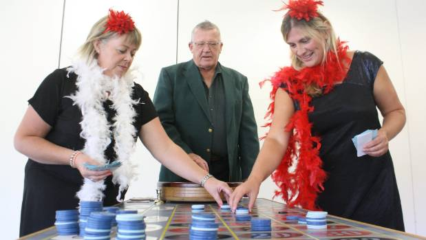 Port Marlborough Pavilion staff member Nicola Beaman, left, treasurer Chris Marshall and operations manager Dale ...