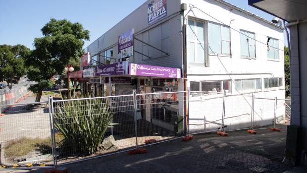 At least seven workers could be seen at the back of the Probett Building on March 20. Auckland Council has confirmed the ...