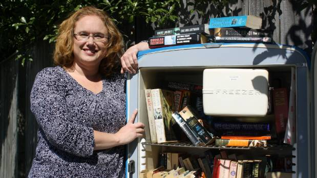 The Book Swap Fridge Spring Creek is already popular with residents says its founder Melissa Haylock.