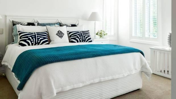The guest suite features Stuart Membery cushions.