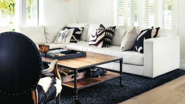 The South African-inspired family room was designed to be both stylish and hard-wearing.