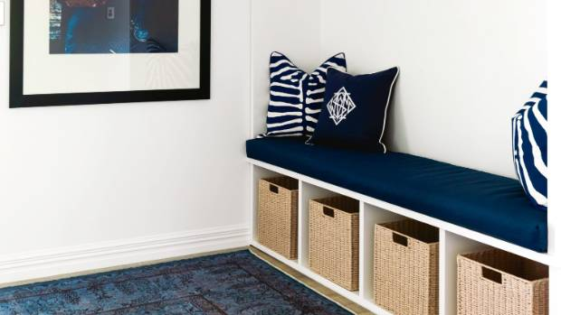 A foyer off the entrance hall is one of Bridget's favourite modifications – the American-style joinery unit includes ...
