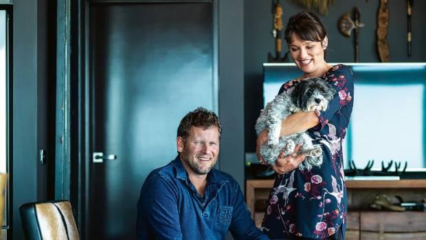 Craig, Yolande and Maltese poodle-cross Mimi.
