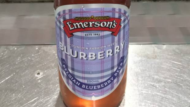 Clad in stylish tartan and created exclusively for iD Dunedin fashion week, Emerson's pink-hued Blurberry beer gives a ...