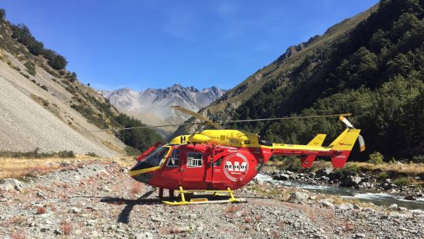 An American tourist was winched to safety after falling near Lake Clearwater on Wednesday.