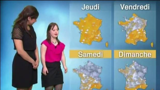 Melanie Segard, 21, presents the weather on TV network France 2, fulfilling a lifelong dream.