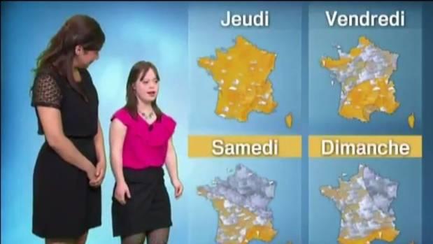 Melanie Segard, 21, presents the weather on TV network France 2, fulfilling a lifelong dream.