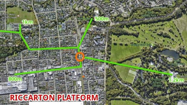 The Riccarton platform has the largest travel distances from the station, located about 2km from the University of ...