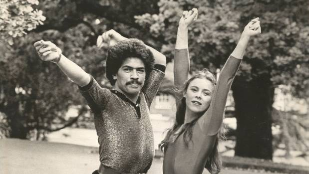 Wayne Marsh and dance partner Janine in Albert Park, Auckland, in 1980.