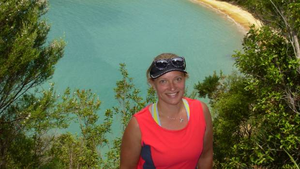 Sarah Dirks visiting a bay in the Abel Tasman National Park.