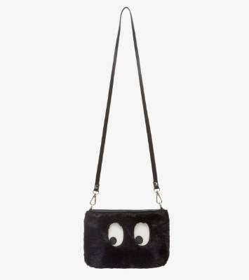 LESS: French Connection bag, $70. French Connection's fluffy polyester clutch has both a cross-body strap and wrist ...