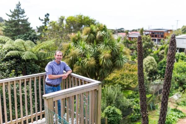 David Cripps overlooks his seedsaving garden in Moturoa.