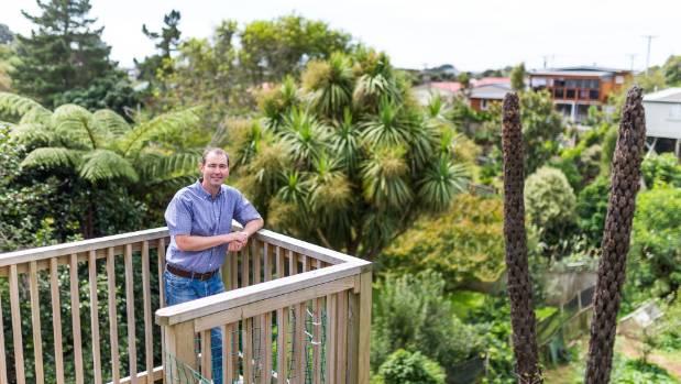 David Cripps and his seedsaving garden in Moturoa.