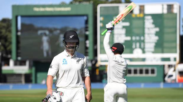 Neil Broom was dismissed for a duck on test debut as New Zealand slumped against South Africa.