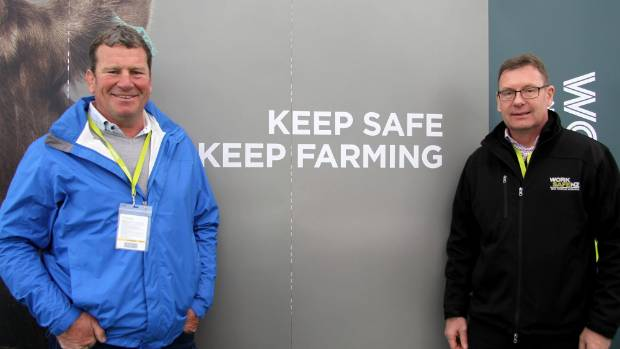 Safer Farms ambassador Richard Loe and WorkSafe's Agriculture sector leader  Al McCone.