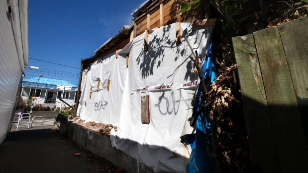 The dilapidated bungalow was declared too dangerous to enter by Wellington City Council in late 2016, forcing its owner ...