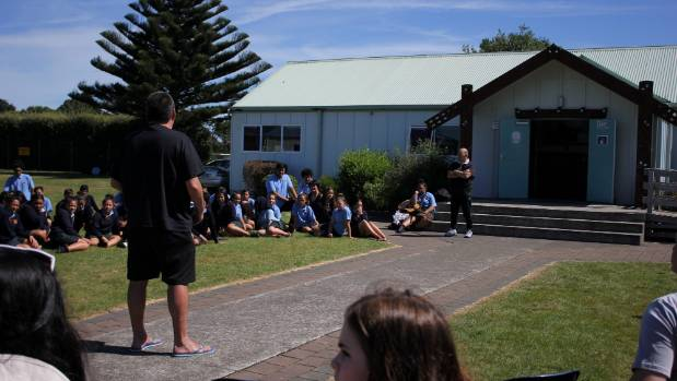 Brad Baker addressed the kapa haka group, and followed his speech with the Canadian National Anthem.
