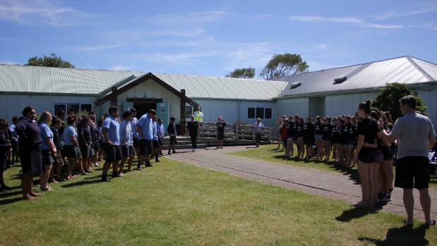 The Canadian National Anthem was followed with a haka by the Hawera students.
