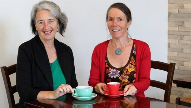 Barbara Greene, left, and Kristine Rose co-facilitators of Nelson Death Cafe.