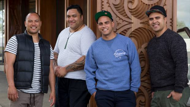 Musician and actor James Tito, right, is a founding member of The Modern Maori Quartet.