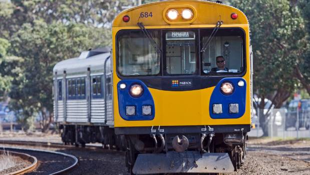 One of Auckland Transport's now retired diesel trains, which Tane Apanui wants to use for a Christchurch commuter ...