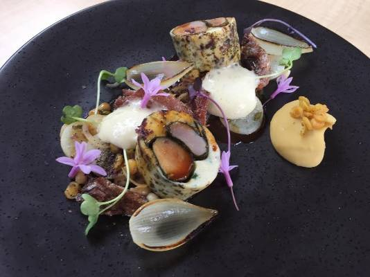Nosh, on Cuba St, is serving wild rabbit, white coco beans and a wheat beer foam.