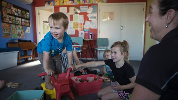 Daniel Drummond, 3, enjoys play time with his sister Sophie, 7, at the Culverden Plunket room.