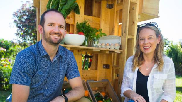 Te Awamutu couple Shaun and Sarah O'Dea built the Sharing Shed to bring their community together. It will be set up in ...